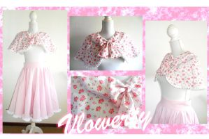 Pinky lolita skirt and cape by vlower