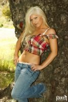 Country Girl - By the tree by RavynPhotography