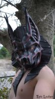 Crimson Leather Anubis Mask by Epic-Leather