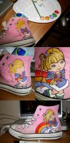 Rainbow Brite - Custom Chucks by SnowWhiteLeigh