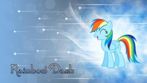 Rainbow Dash Winter Wallpaper by ALoopyDuck