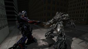 optimus prime vs megatron! by forrealsyall