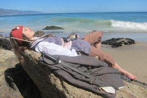 Elo Sparrow - Beach sleep by elodie50a