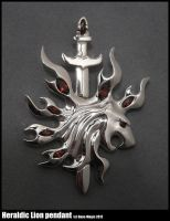 Heraldic Lion with sword pendant by Dans-Magic