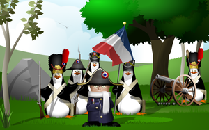 napoleon Penguins by artistamoscio