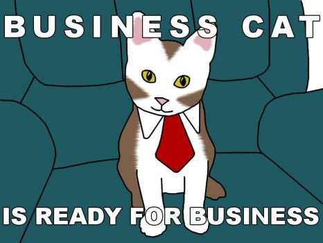 Business Cat by plasticpyre