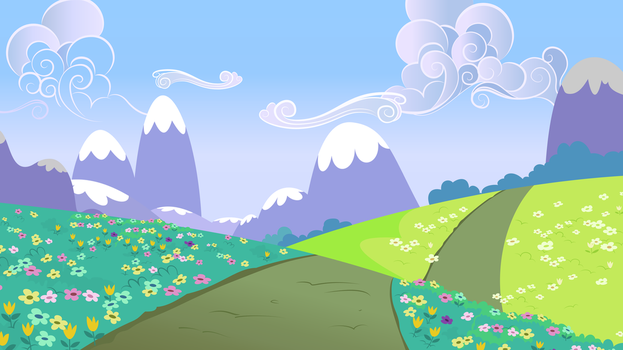 Rolling Hills Path Near The Crystal Empire by Lahirien