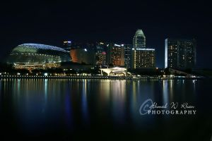 Singapore by Night II by ahmedwkhan