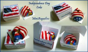 4th of July miniature cake by miniacquoline