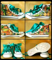 Toy Story Shoes by AlmightyGingerOne