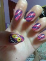Cheshire Nails by romanticniviolence