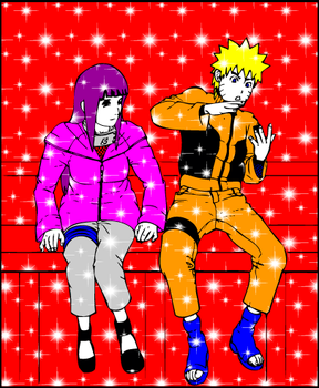 NARUTO and HINATA by egneverym