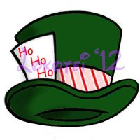 Graphic Design - Mad Hatter's Hat Christmas - 2012 by Lokotei