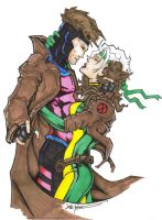 Rogue and Gambit by ChrisOzFulton