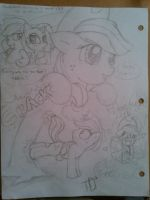 Speed Doodles, Applejack by AquaticSun
