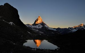Sunrise on the Matterhorn by artamusica