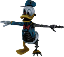 Animatronic Donald (Epic Mickey model) by Luigimariogmod