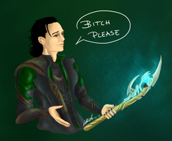 God of Mischief by Kitsune-gari