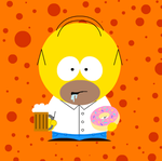 South Park: Homer Simpson from The Simpsons by OliverTaf