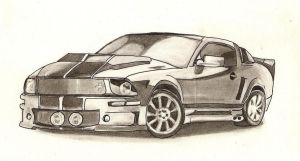 Ford mustang Eleanor by Jujuly21