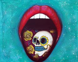 Mouth Full Of Sugar Skull by barbosaart