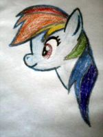Rainbow Dash on PAPER? by TuxRug