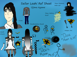 Sailor Leahi - Ojima Ayame Ref Sheet (Redone) by xXlili-chanXx