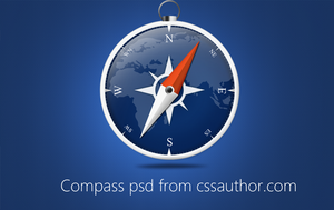Beautiful Compass PSD for Free Download by cssauthor
