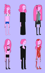 Adventure Time - Princess Bubblegum outfits 2 by JayWhale