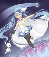 Magical Snow Miku by Gumwad201