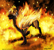 In flames (700th watcher) by Saiccu
