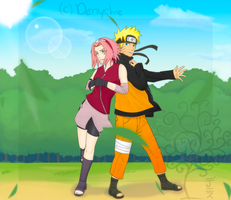 -NaruSaku- Fight by Denychie