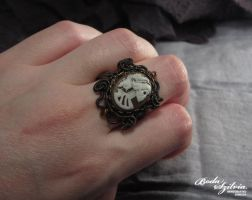 SKULL BRIDE ring by bodaszilvia
