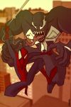 Spidey and Venom by Xennethy