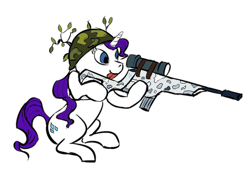 Rarity likes Rifles? Snow by Chemical-art