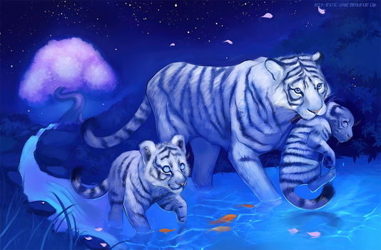Tiger family by Static-ghost