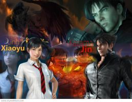Jin and Xiaoyu Wallpaper by Jesterca