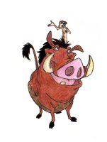 Timon et Pumbaa by JELawrence