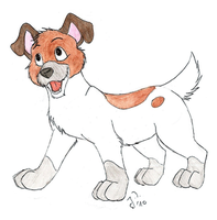 Dodger as a puppy by Shendificator