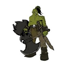 Orc Coloured 2 by NegaDrain