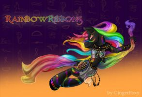 RainbowRibbons by GingerFoxy