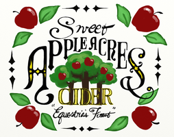 Sweet Apple Acres Cider Sign by SynCallio