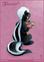 Flower-skunk by ArunaTramp