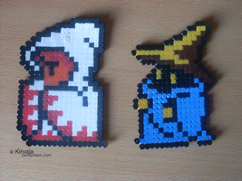 Black n White Mage - Hama Bead by Kirvaja
