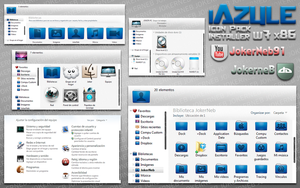 iAzule IconPack Installer w7 by JokerneB