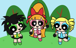 Powerpuff Girls Z by sakuramidori