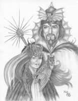 The Sorcerer And Sorceress by HarttoHeart