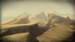 Dusty Mountains by southpawper