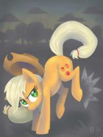Applejack is bucking awesome by LumosLightning