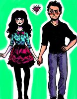 New Girl Nick and Jess by pebbled